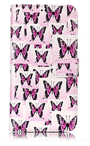 For Case Cover Card Holder Wallet with Stand Flip Pattern Full Body Case Butterfly Hard PU Leather for Samsung Galaxy J7 (2016) J7 (2017)