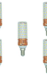 5pcs 16W E14 LED-kornpærer T 84 leds SMD 2835 Varm hvit Hvit Dual Light Source Color 1300lm 3000-3500  6000-6500  3000-6500K AC 220-240V