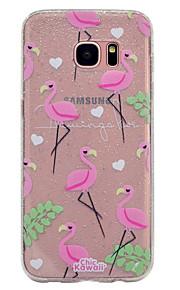 Funda Para Samsung Galaxy Transparente Diseños Cubierta Trasera Flamenco Brillante Suave TPU para S8 S8 Plus S7 edge S7 S6