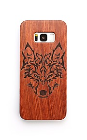 For Case Cover Shockproof Back Cover Case Animal Hard Wooden for Samsung Galaxy S8 Plus S8
