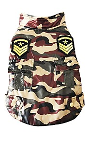 Cane Gilè Abbigliamento per cani Casual Geometrico Camouflage colore