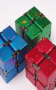 Uendelig Cube Fidget Legetøj Magiske terninger Legetøj Stress og angst relief Metallegering Klassisk & Tidløs Nyt Design Stk. Gave