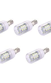 5pcs 2W LED-kornpærer T 30 leds SMD 5730 Varm hvit 150lm 3000-3500K 110-120V