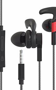 byz se1200 i ørekablet hovedtelefoner elektrostatisk plast mobiltelefon hovedtelefon støjisolerende med mikrofon med lydstyrke headset