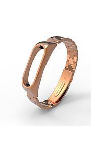 xiaomi mi banda 2 pulseira de luxo de aço inoxidável metal ultrança nova cor de rosa ouro