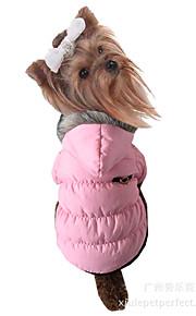 Cane Cappottini Abbigliamento per cani Casual Tenere al caldo Tinta unita Fucsia Marrone Rosso Blu Rosa