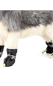 Hond Antislip zool Laarzen Snowboots Hondenkleding Effen Zwart Grijs Rood Blauw Roze Stof Kostuum Voor huisdieren Casual/Dagelijks Houd