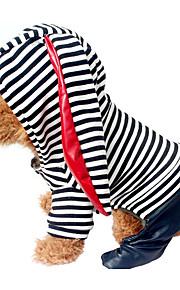 Cane Tuta Abbigliamento per cani Tenere al caldo Righe