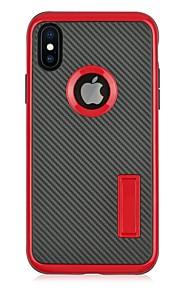 Capinha Para Apple iPhone X iPhone 8 Com Suporte Capa Traseira Côr Sólida Rígida PC para iPhone X iPhone 8 Plus iPhone 8 iPhone 7 Plus
