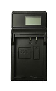 Ismartdigi LPE10 LCD USB Camera Battery Charger for Canon LPE10 E10 LP-E10 EOS 1100D T3 KISS X50 1200D - Black
