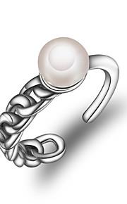 Dame Manchet ring Simple Mode Perle Geometrisk form Smykker Til Anden Daglig