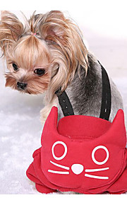 Dog Pants Dog Clothes Casual/Daily Solid Red Gray
