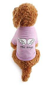 강아지 티셔츠 강아지 의류 문자와 숫자 면 코스츔 애완 동물