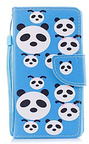 Case For Apple Ipod Touch5 / 6 Case Cover Card Holder Wallet with Stand Flip Pattern Full Body Case  Panda Puzzles Hard PU Leather