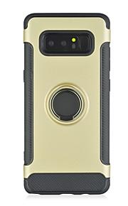ケース 用途 Samsung Galaxy Note 8 耐衝撃 バンカーリング バックカバー 純色 鎧 ハード PC のために Note 8