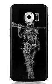 Кейс для Назначение SSamsung Galaxy S7 edge S7 IMD Задняя крышка Соблазнительная девушка Мягкий TPU для S7 edge S7