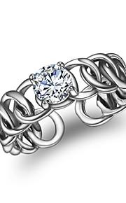 Dame Manchet ring Vintage Mode Zirkonium Geometrisk form Smykker Til Anden Daglig