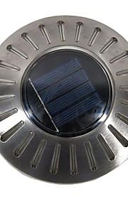1pcs vanntett 6leds ufo solenergi drevet sti gangvei plen lys rustfritt stål vegglampe