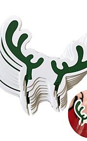 10pcs Jul JulepyntForFeriedekorasjoner 8.3*5.3*0.1