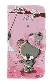 Case For Apple Ipod Touch5 / 6 Case Cover Card Holder Wallet with Stand Flip Pattern Full Body Case  Couple Bear Hard PU Leather