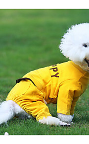 Cachorro Macacão Roupas para Cães Algodão Plumagem Inverno Primavera/Outono Casual Sólido Cinzento Amarelo Ocasiões Especiais Para