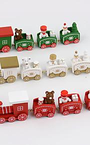 4 stk / sett julegave tre tog hjem dekorasjon barn gave 20 * 4,5 * 3cm