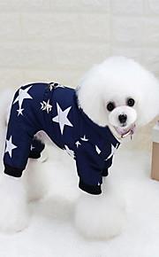 Katze Hund Mäntel Kapuzenshirts Hundekleidung Lässig/Alltäglich warm halten Sterne Rot Blau Kostüm Für Haustiere