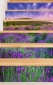 Blumenmuster/Botanisch Romantik Landschaft Wand-Sticker Geh?use Flugzeug-Wand Sticker 3D Wand Sticker Dekorative Wand Sticker Hochzeits