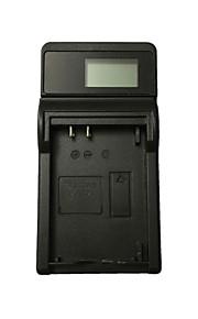 Ismartdigi LPE12 LCD USB Camera Battery Charger for Canon LPE12 E12 LP-E12 EOS M M2 M10 100D - Black