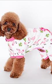 Gato Cachorro Moletom Pijamas Roupas para Cães Algodão Primavera/Outono Inverno Uma Peça Casual Lazer Animal Amarelo Azul Rosa claro Para