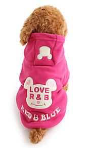 강아지 후드 강아지 의류 카툰 블랙 로즈 폴라 플리스 코스츔 애완 동물 남성용 여성용 귀여운 따뜻함 유지