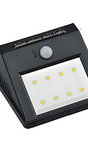 1pcs 8leds vanntett ledet ip65 solar pir bevegelsessensor lys ledet utendørs trådløs vegglampe