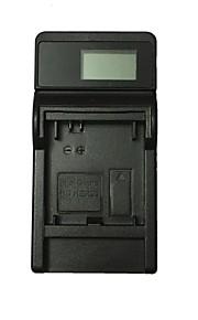 Ismartdigi 301 LCD USB Camera Battery Charger for Gopro Hero AHDBT-301 201 Battery - Black