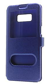 Kılıf Na Samsung Galaxy Note 8 Note 5 Portfel Z podpórką Z okienkiem Flip Futerał Solid Color Twarde Sztuczna skóra na Note 8 Note 5 Note