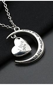 Women's Pendant Necklaces Silver Plated Alloy Pendant Necklaces , Simple Vintage Date