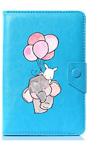 caja universal de la cubierta del soporte del cuero de la PU del elefante de la historieta para 7 pulgadas 8 pulgadas 9 pulgadas tableta