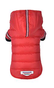 כלב מעילים מעילי פוך בגדים לכלבים כותנה חורף מסוגנן מוצק אפור אדום תחפושות עבור חיות מחמד