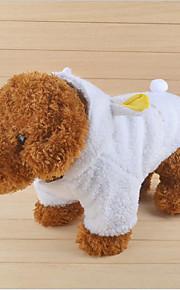 Katze Hund Mäntel Kapuzenshirts Hundekleidung Lässig/Alltäglich warm halten Buchstabe & Nummer Weiß Kostüm Für Haustiere
