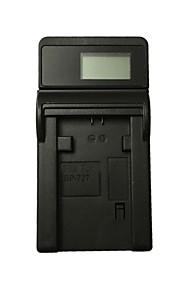 Ismartdigi BP727 LCD USB Camera Battery Charger for Canon BP727 718 709 745 Battery - Black
