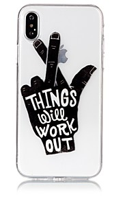 Custodia Per Apple iPhone X iPhone 8 Ultra sottile Transparente Decorazioni in rilievo Fantasia/disegno Custodia posteriore Frasi famose