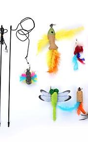 kot zabawka dla kota zabawki dla zwierząt zwiastun zrelaksowany pasujący dla zwierząt przyjazny łatwy montaż dzwonek z tworzywa sztucznego
