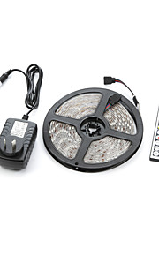 5m Light Sets 300 LEDs 5050 SMD RGB Remote Control / RC / Cuttable / Dimmable 100-240 V / IP65 / Waterproof / Linkable / Suitable for Vehicles / Self-adhesive