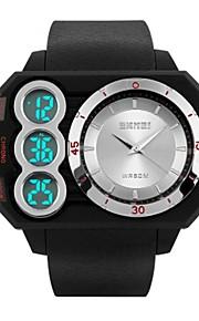Homens Mulheres Relógio Casual Relógio Esportivo Relógio de Moda Japanês Digital Calendário Impermeável Dois Fusos Horários Cronômetro