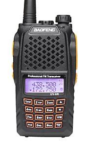BaoFeng UV6R VHF 136-174MHz UHF 400-520MHZ Dual-Band HAM FM Two-Way Radio Walkie Talkies  Professional CB radio Dual Frequency 128CH LCD display Wirel