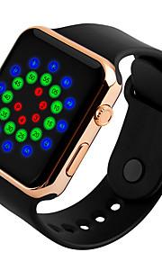 Homens Crianças Relógio Casual Relógio Esportivo Relógio de Moda Chinês Digital Calendário Impermeável Noctilucente Mostrador Grande PU
