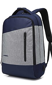 15,6 Zoll Laptop Nähte Business wasserdichtes Nylon Tuch mit USB Lade Port Notebook Tasche Rucksack für MacBook / Dell / PS / Lenovo /