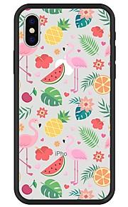 Custodia Per Apple iPhone X iPhone 8 Plus Fantasia/disegno Custodia posteriore Fenicottero Frutta Morbido TPU per iPhone X iPhone 8 Plus
