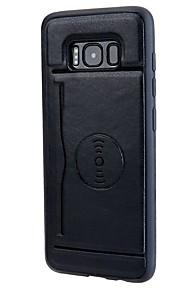 מגן עבור Samsung Galaxy S8 Plus S8 מחזיק כרטיסים עם מעמד כיסוי אחורי צבע אחיד רך דמוי עור ל S8 Plus S8 S7 edge S7