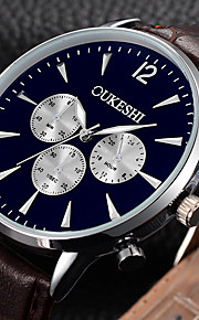 Homens Relógio Elegante Relógio de Pulso Relógio de Moda Chinês Quartzo N/D Couro Banda Casual Legal Minimalista Preta Marrom