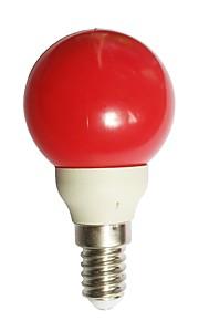 1pc 0.5W E14 LED-globepærer G45 7 LED Dyp Led Rød 15-25lm 0000K AC100-240V